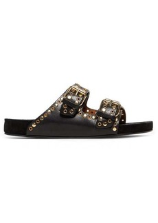 Isabel Marant Lennyo double-strap eyelet leather slides