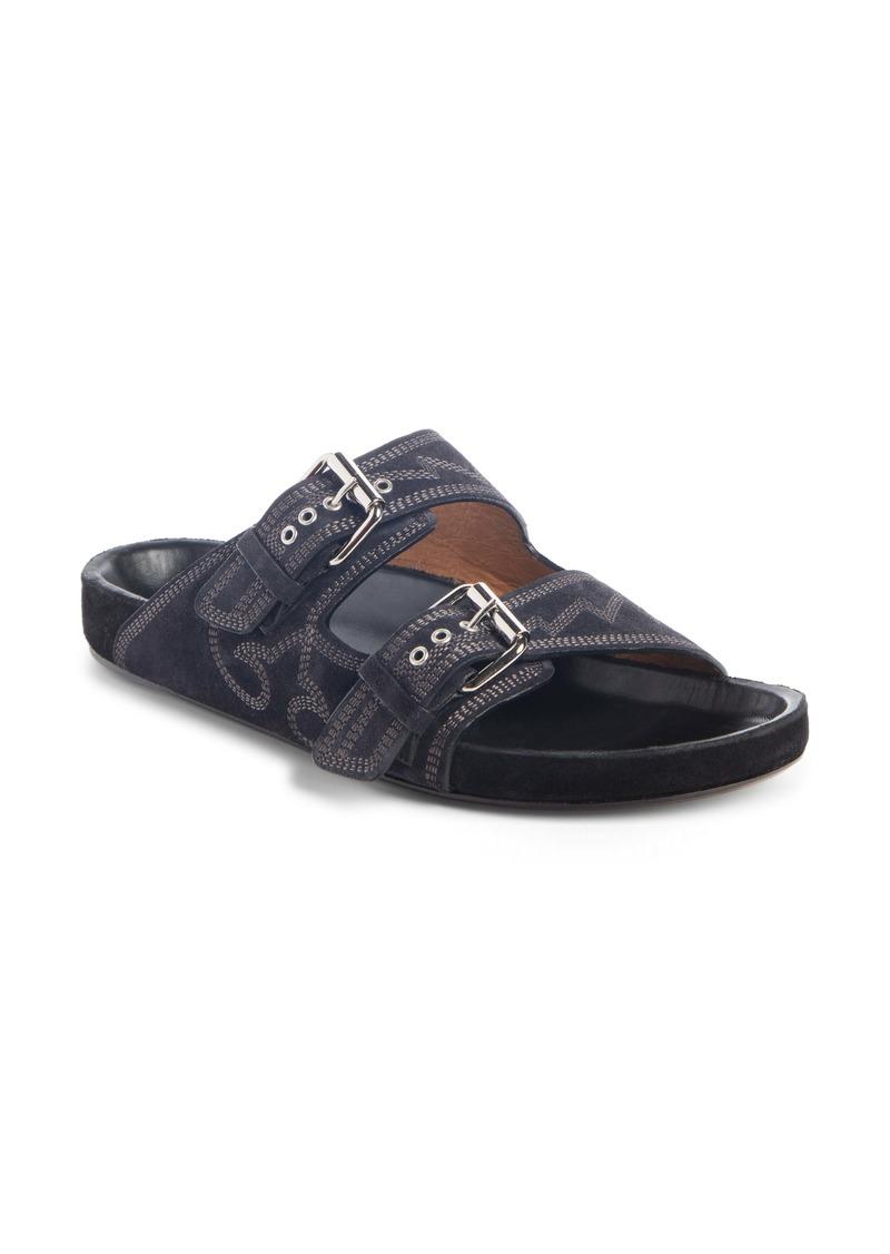 Isabel Marant Lennyo Double Strap Slide Sandal (Women)
