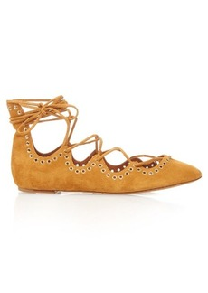 Isabel Marant Leo lace-up suede ballet flats