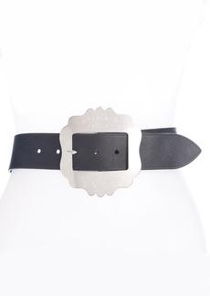 Isabel Marant Lewa Statement Buckle Leather Belt