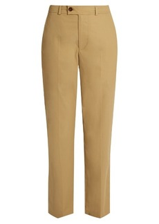 Isabel Marant Licia straight-leg cotton-poplin trousers