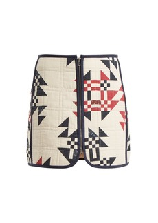 Isabel Marant Lickly geometric-print mini skirt