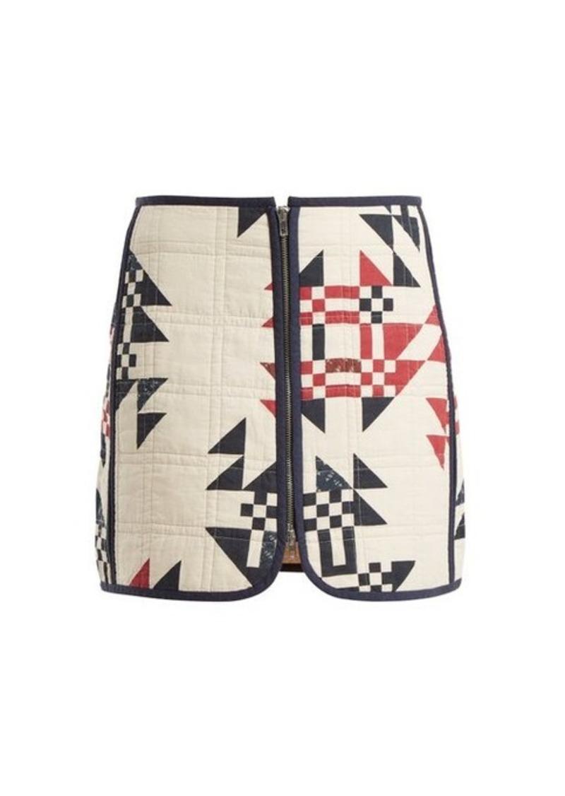 Isabel Marant Lickly geometric-print mini skirt