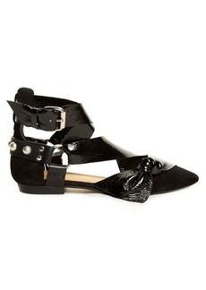 Isabel Marant Lindon point-toe leather and suede flats