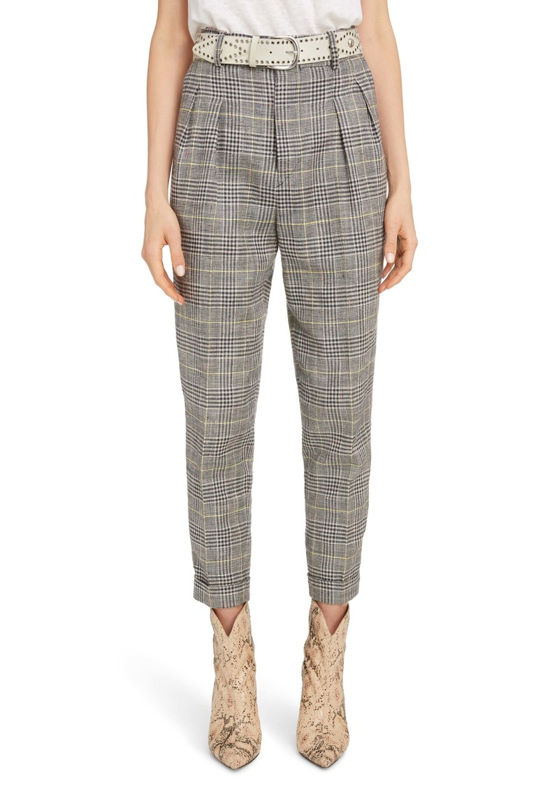 Isabel Marant Linen & Silk Blend Pleated Pants
