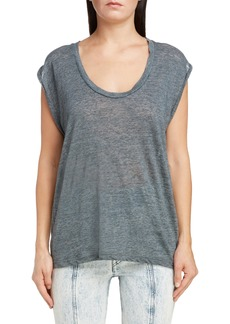 Isabel Marant Linen Scoop Neck Tank Top