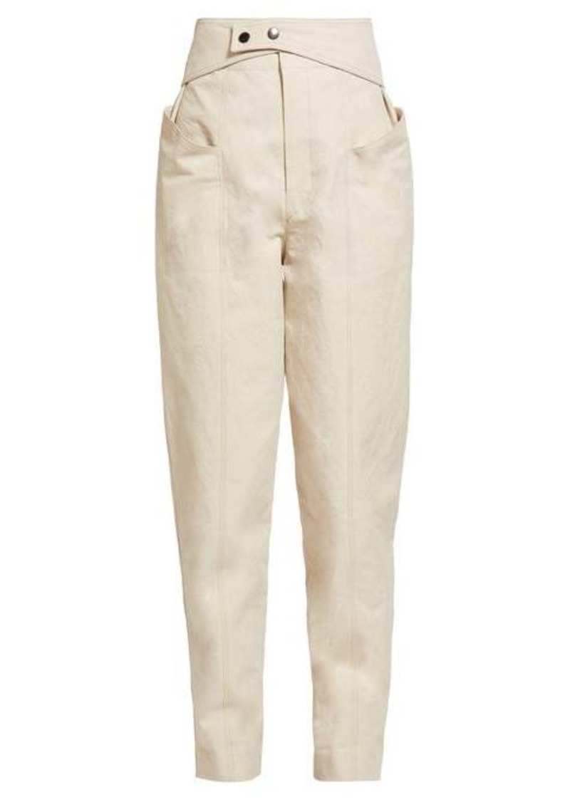 Isabel Marant Lixy high-rise cotton-twill trousers