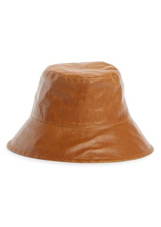 Isabel Marant Loiena Waxed Linen Bucket Hat