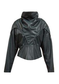 Isabel Marant Loneya slouched high-neck leather blouse