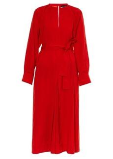 Isabel Marant Long-sleeved silk-blend dress