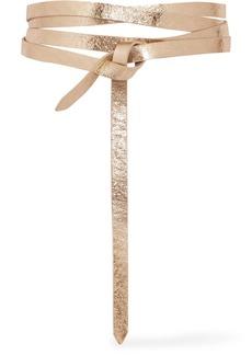 Isabel Marant Lonny metallic textured-leather belt