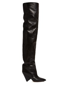Isabel Marant Lostynn leather over-the-knee boots