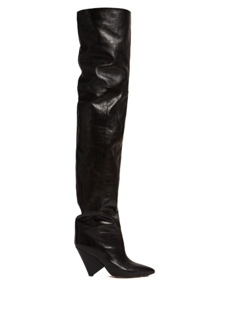 ac9bf705f18 Isabel Marant Isabel Marant Lostynn leather over-the-knee boots