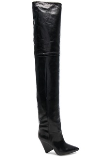 Isabel Marant Lostynn Leather Thigh High Boots