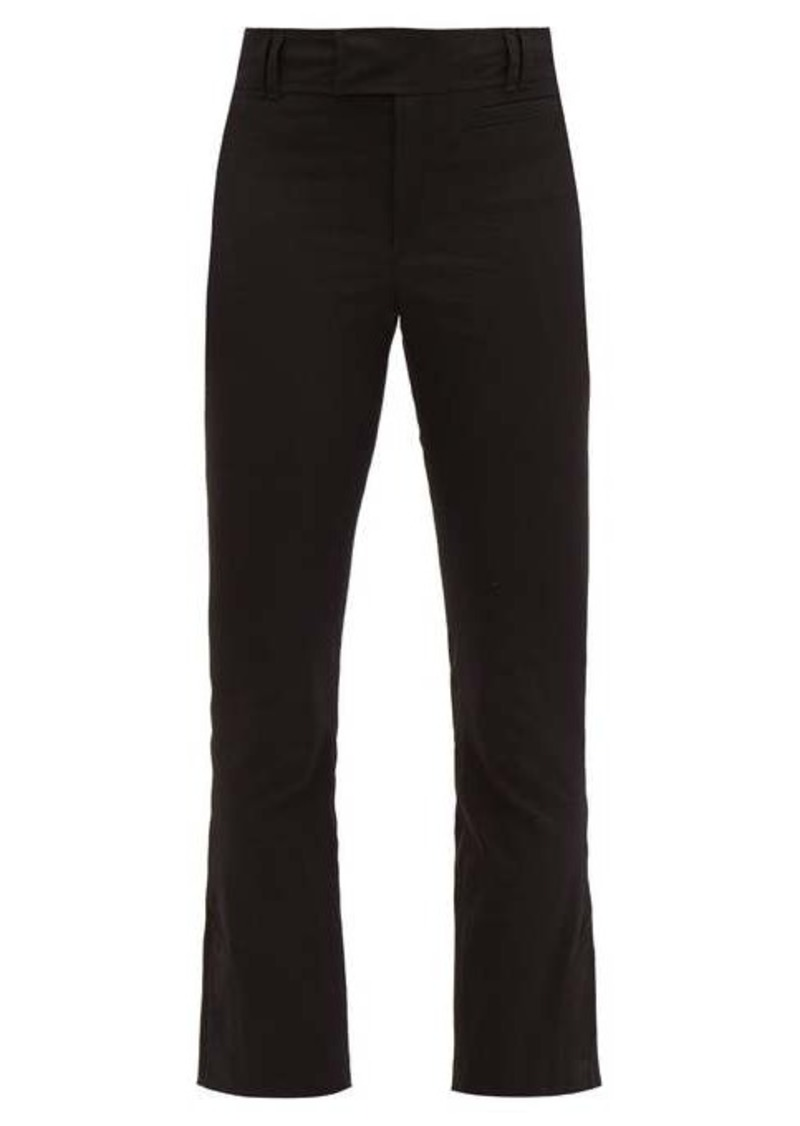 Isabel Marant Lovida slit-cuff cotton-blend slim-leg trousers
