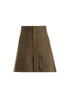 Isabel Marant Lucky A-line high-waist shorts