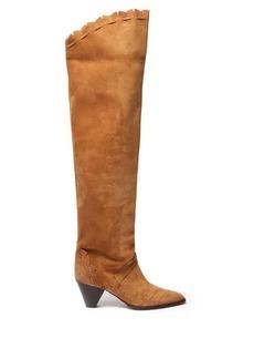 Isabel Marant Luiz cone-heel suede over-the-knee boots