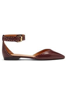 Isabel Marant Lya stud-embellished point-toe leather flats