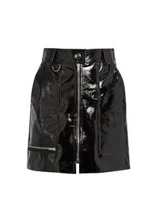 Isabel Marant Lynne patent-leather mini skirt