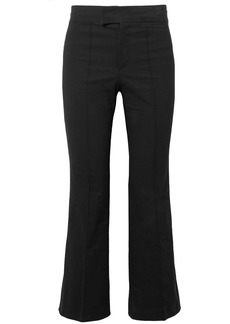 Lyre cropped cotton-blend flared pants