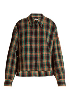 Isabel Marant Macao checked cotton and linen-blend shirt