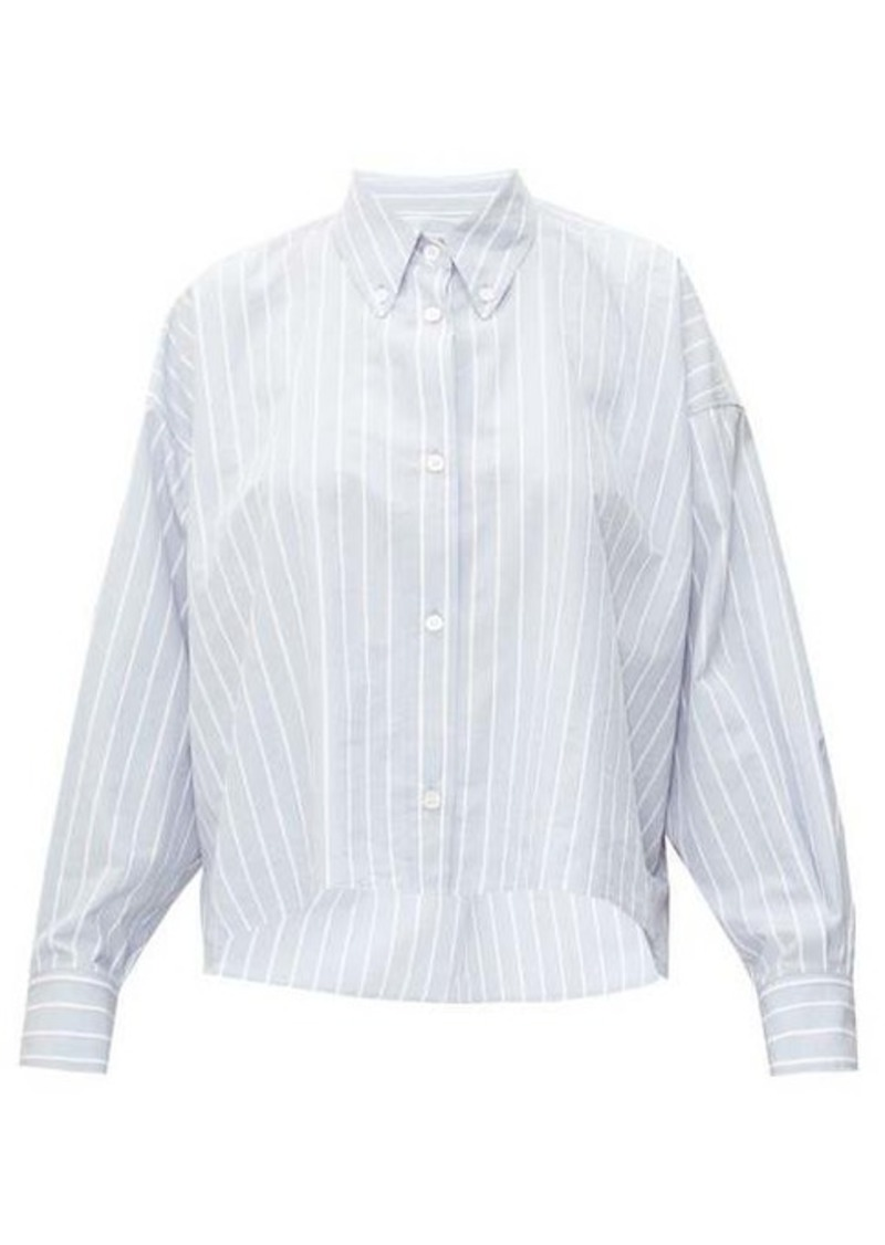 Isabel Marant Macao striped slubbed cotton-poplin shirt