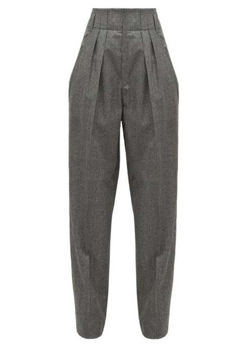 Isabel Marant Magali high-rise houndstooth wool trousers