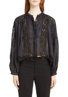 Isabel Marant Maly Broderie Anglaise Detail Blouse