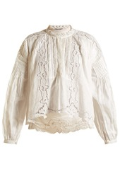 Isabel Marant Maly embroidered ramie top