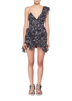 Isabel Marant Manda One Ruffle Shoulder Floral-Print Mini Dress