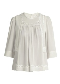 Isabel Marant Mara embroidered silk blouse