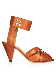 Isabel Marant Mavis cone-heel leather sandals