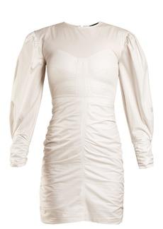 Isabel Marant May puff-sleeved gathered dress