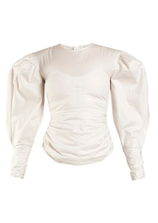 Isabel Marant Maya puff-sleeved top