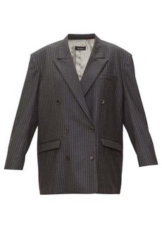 Isabel Marant Meladim chalk-striped double-breasted wool blazer