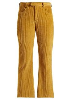 Isabel Marant Mereo kick-flare corduroy cropped trousers