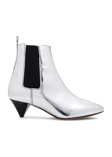 Isabel Marant Metallic Leather Dawell New Vintage Booties
