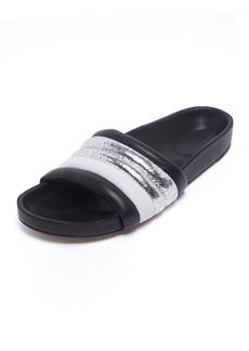 Isabel Marant Metallic Leather Pool Slide