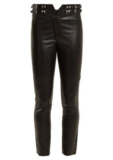 Isabel Marant Mid-rise skinny leather trousers