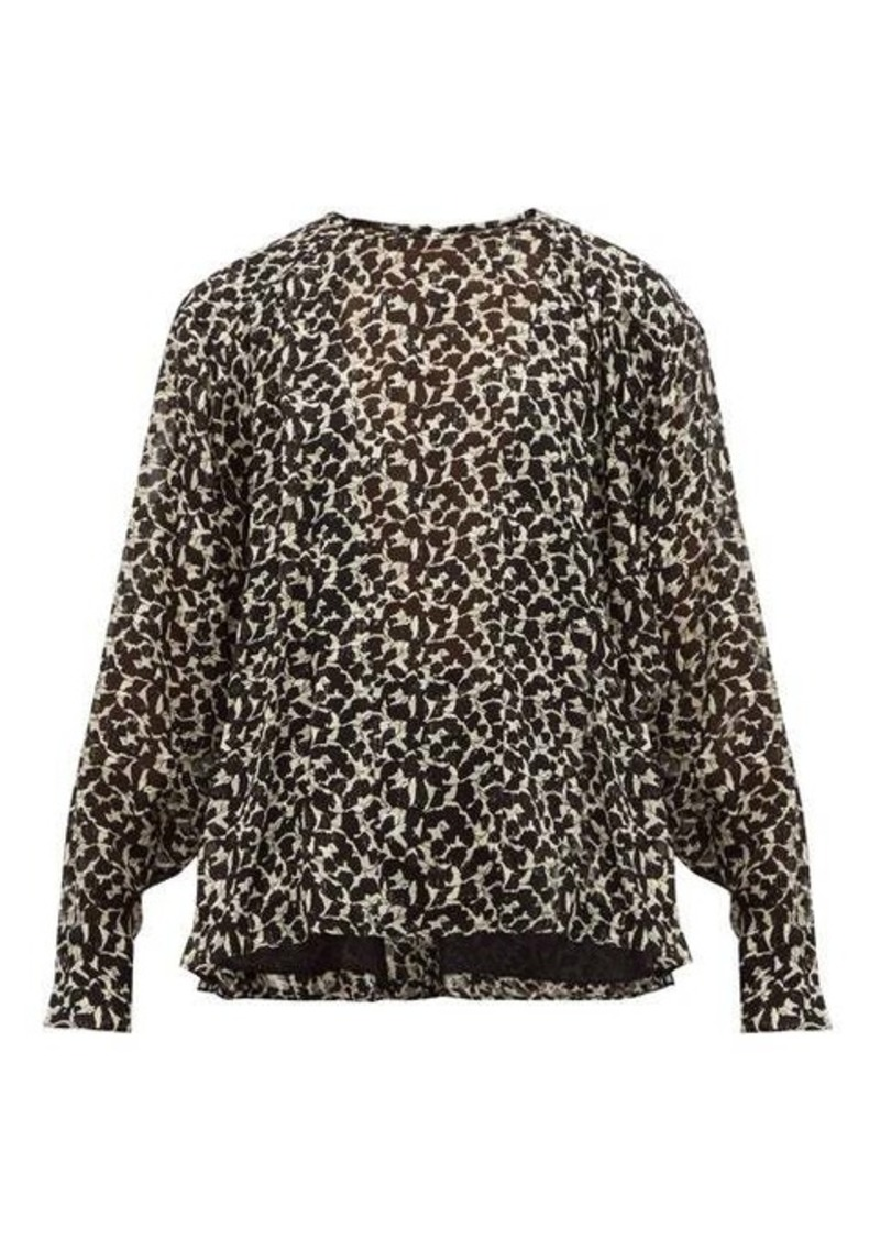 Isabel Marant Midway floral-print silk-blend blouse