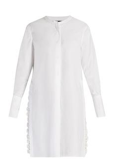 Isabel Marant Minea crochet-trim collarless shirt