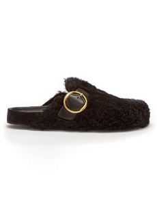 Isabel Marant Mirvin backless shearling clogs