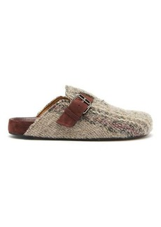 Isabel Marant Mirvin backless tweed clogs
