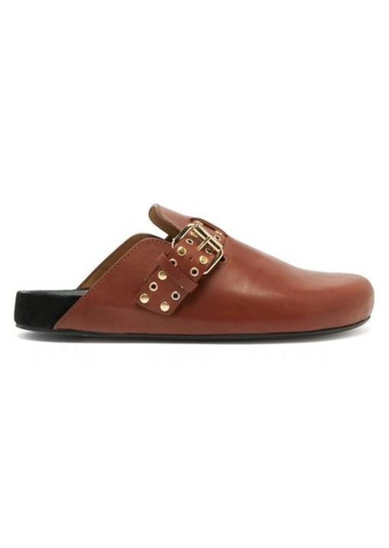 Isabel Marant Mirvin studded backless leather clogs