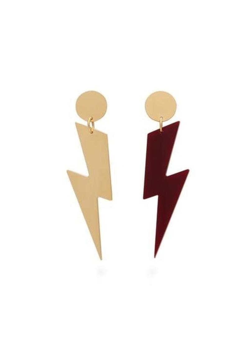 Isabel Marant Mismatched lightning bolt earrings