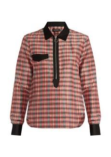 Isabel Marant Molan contrast-collar checked shirt