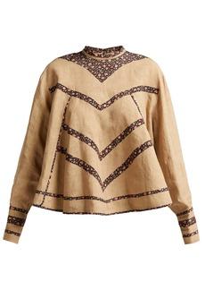 Isabel Marant Moony oversized linen blouse