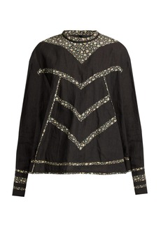 Isabel Marant Moony oversized linen top