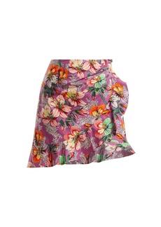 Isabel Marant Mouna floral-print ruffle-trimmed mini skirt
