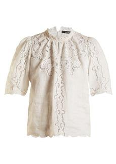 Isabel Marant Mumba lace-embroidery ramie top
